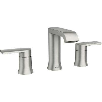 Moen Genta 8 In Widespread 2 Handle Bathroom Faucet In Spot Resist Brushed Nickel 84763srn In 2020 Bathroom Faucets Widespread Bathroom Faucet Sink Faucets
