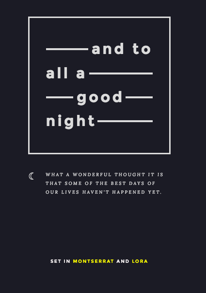 font pairing: SET IN MONTSERRAT AND LORA | Typefaces, Fonts