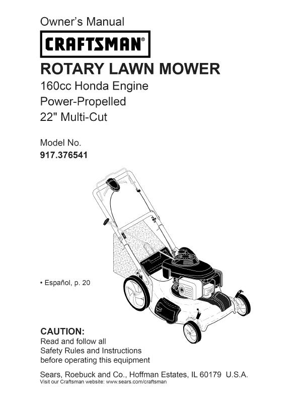 craftsman lawn mower instruction manual yard lanscaping idas rh pinterest com craftsman lawn mower user manual craftsman lawn mower owners manual