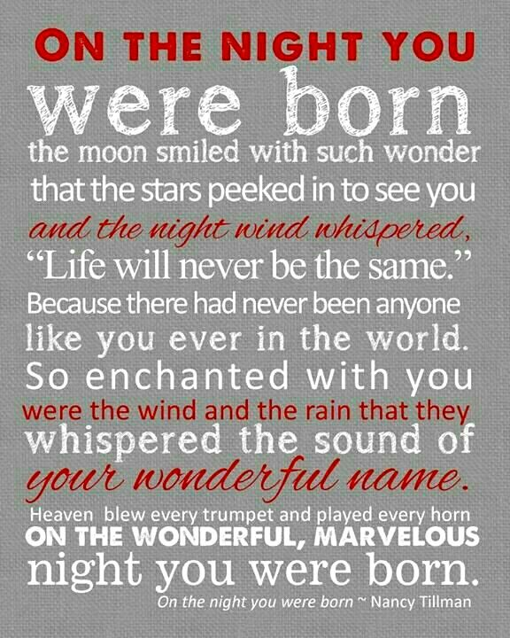 On The Night You Were Born Quotes Baby Quotes Quotes Son Quotes