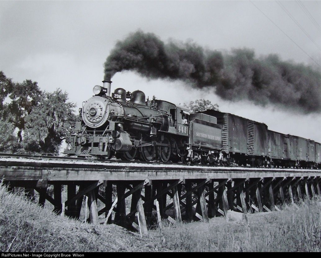 Net photo 446 southern pacific railroad steam at austin texas by bruce wilson