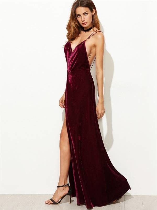 58f1c62a9 Vestido Longo de Veludo - Ref.1022   vestidos   Vestido longo veludo ...