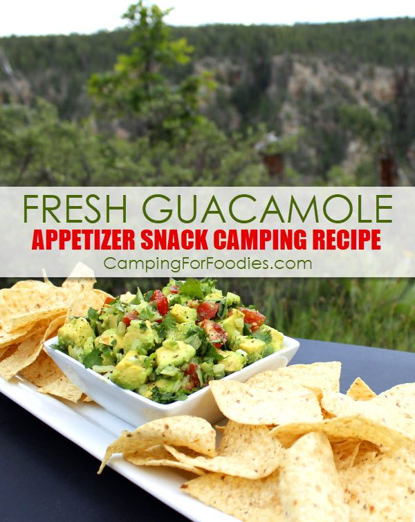 Fast, Fresh And Fabulous Guacamole Appetizer Camping Snack Recipe