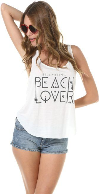 @Abby Shepard Girls THE WAVE IT IS TANK  http://www.swell.com/Womens-Apparel-New-Products/BILLABONG-THE-WAVE-IT-IS-TANK?cs=WH #beachwear