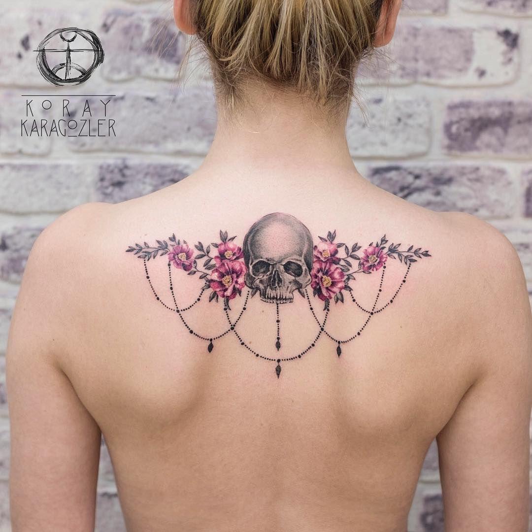 Calavera Y Flores Por Koray Karagozler Tattoos Pinterest