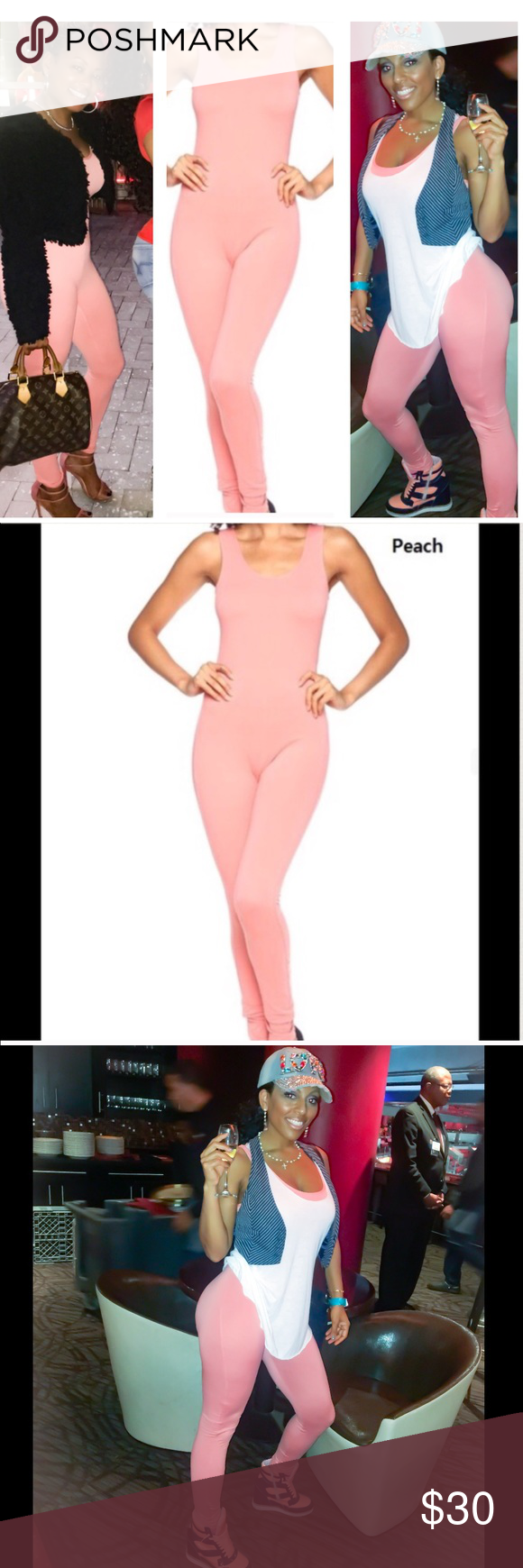 346930a41a Light Pink Catsuit Romper Jumper Jumpsuit Tank Top Small Measurements when  laid flat and up stretched