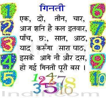 Ginti, Ek Do Teen Char |एक, दो, तीन, चार, | Hindi Poem
