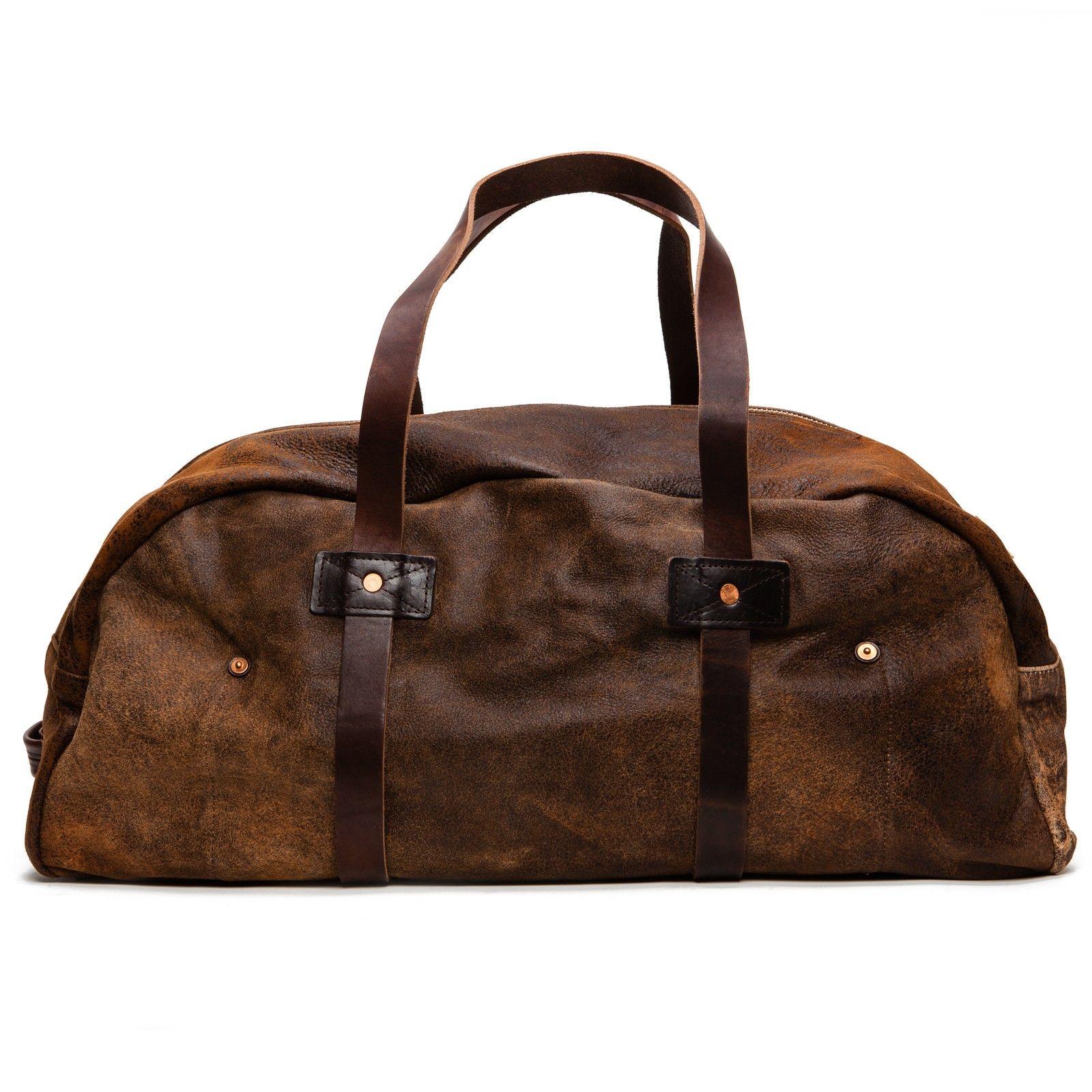 55fb54156634 Billy Reid Large Distressed Duffle Bag