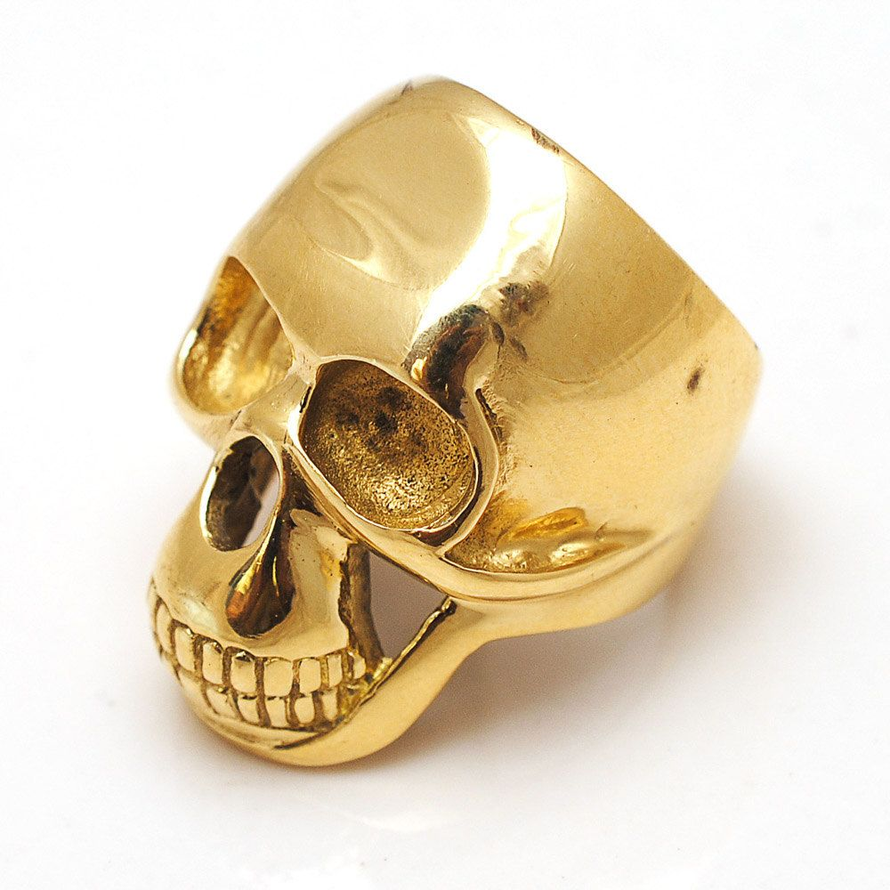 Skull Ring Gold Human Skull Ring Biker Skull Ring Biker ring