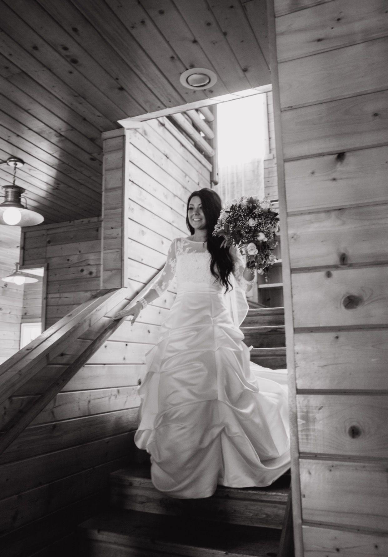 Long sleeve ivory wedding dress  Malmrose Bridal white ivory wedding dress outdoor wedding flowy