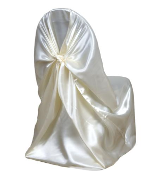 White Universal Chair Covers Personalized Bean Bag Chairs For Kids 230 Ivory Wedding Reception Pinterest And Gold Duo Chrome Will Steam Dry Clean Extra Charge
