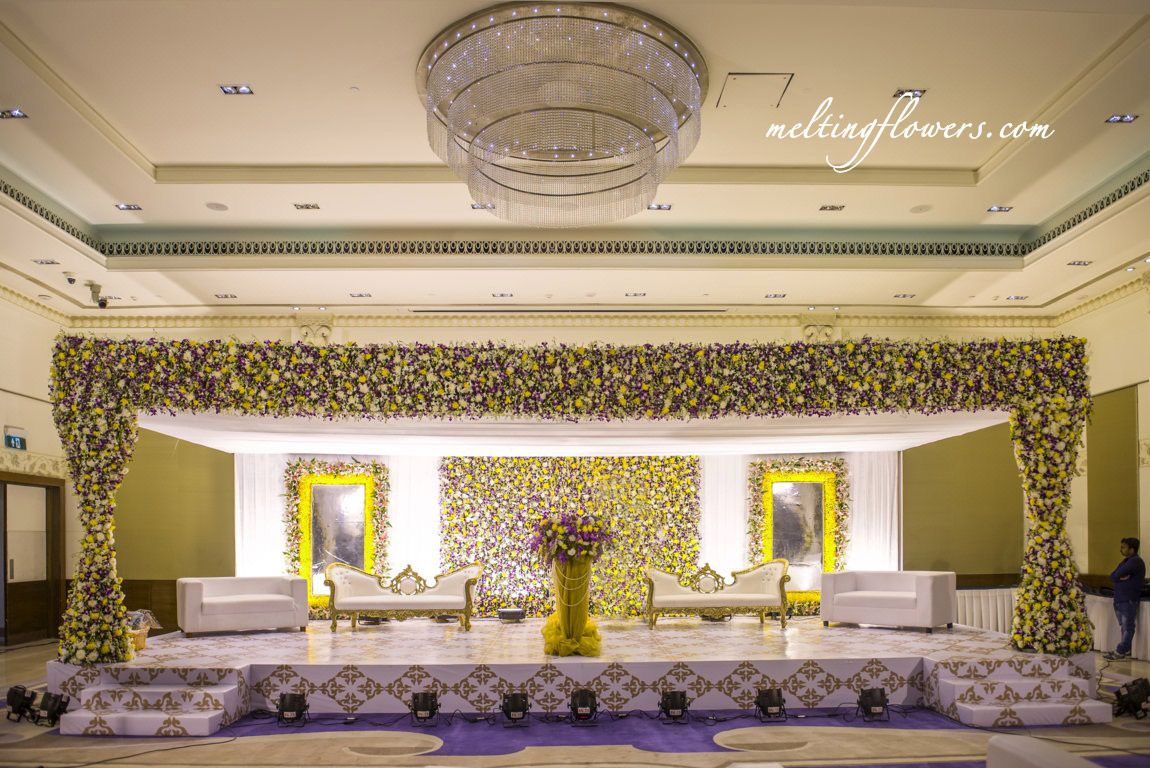 Wedding Stage Decoration At ITC Gardenia Bangalore