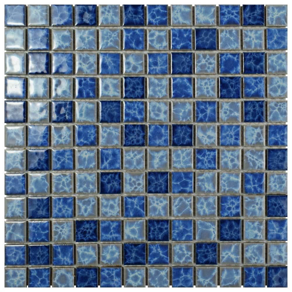 Merola Tile Watersplash Square Aegean 11 3 4 In X 11 3 4 In X 6 Mm Porcelain Mosaic Tile Fyfw1sag Ceramic Wall Tiles Mosaic Tiles Mosaic