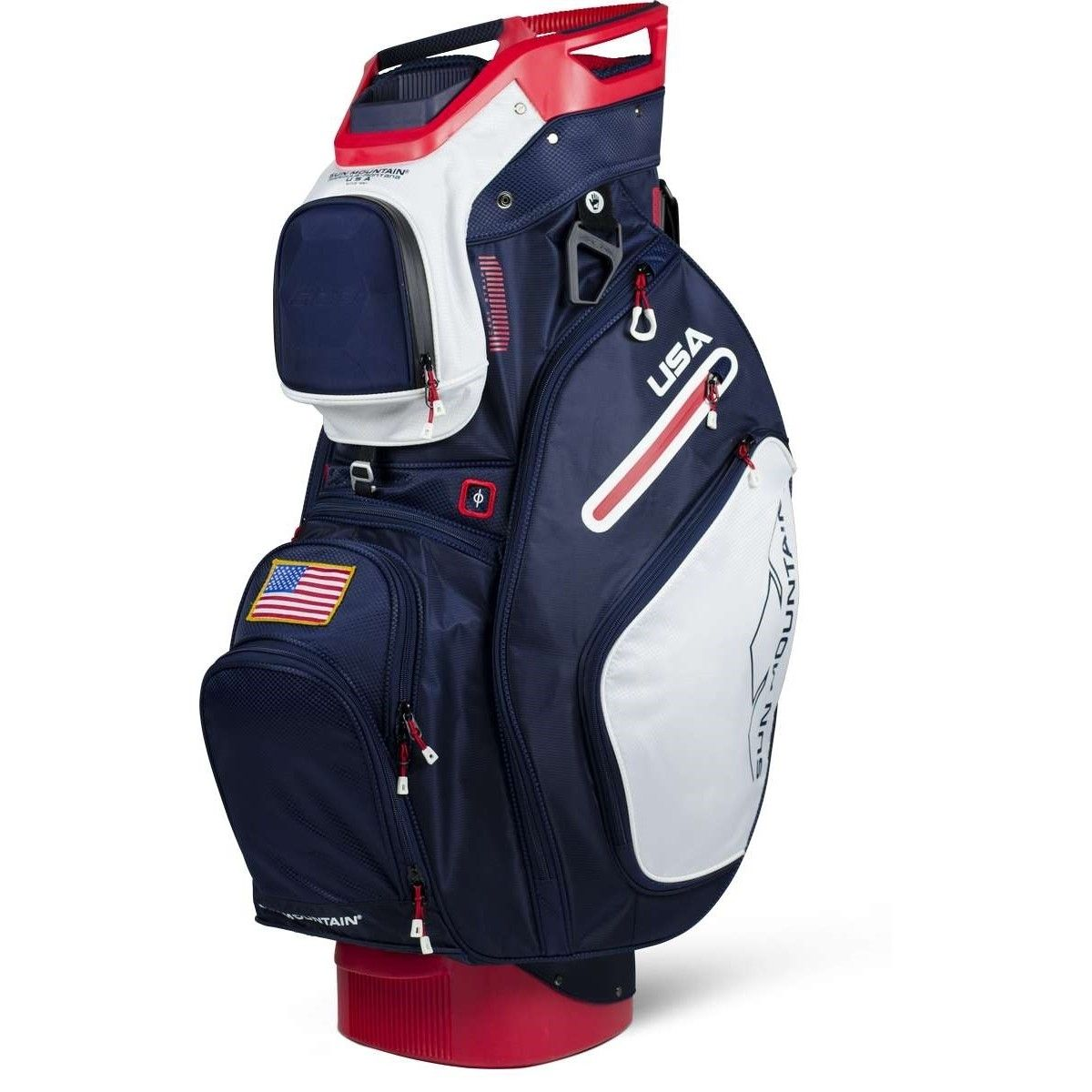Sun Mountain C 130 Cart Bag 2018 Usa Red White Blue Golf Bags Golf Golf Carts