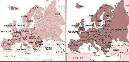 before and after ww1 map google search political memes