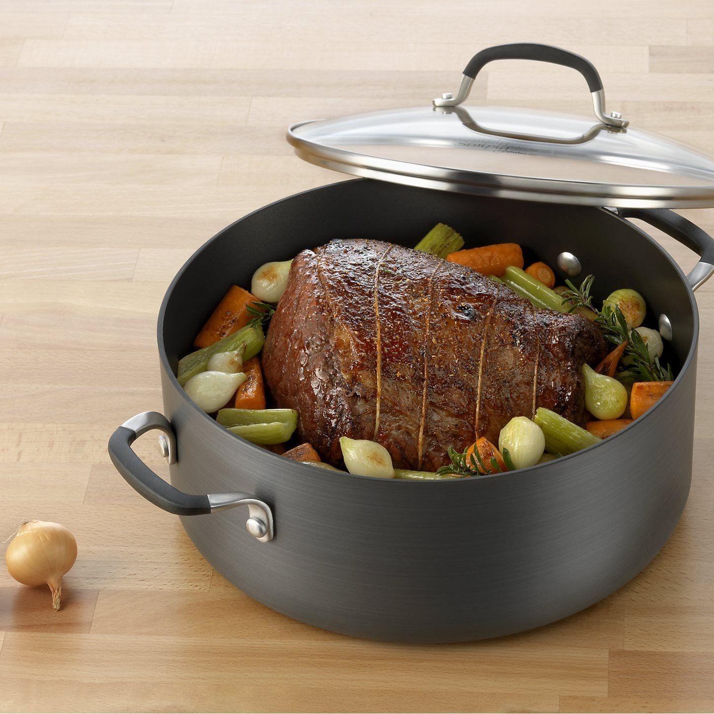 Simply Calphalon Nonstick 7qt. Dutch Oven and Cover