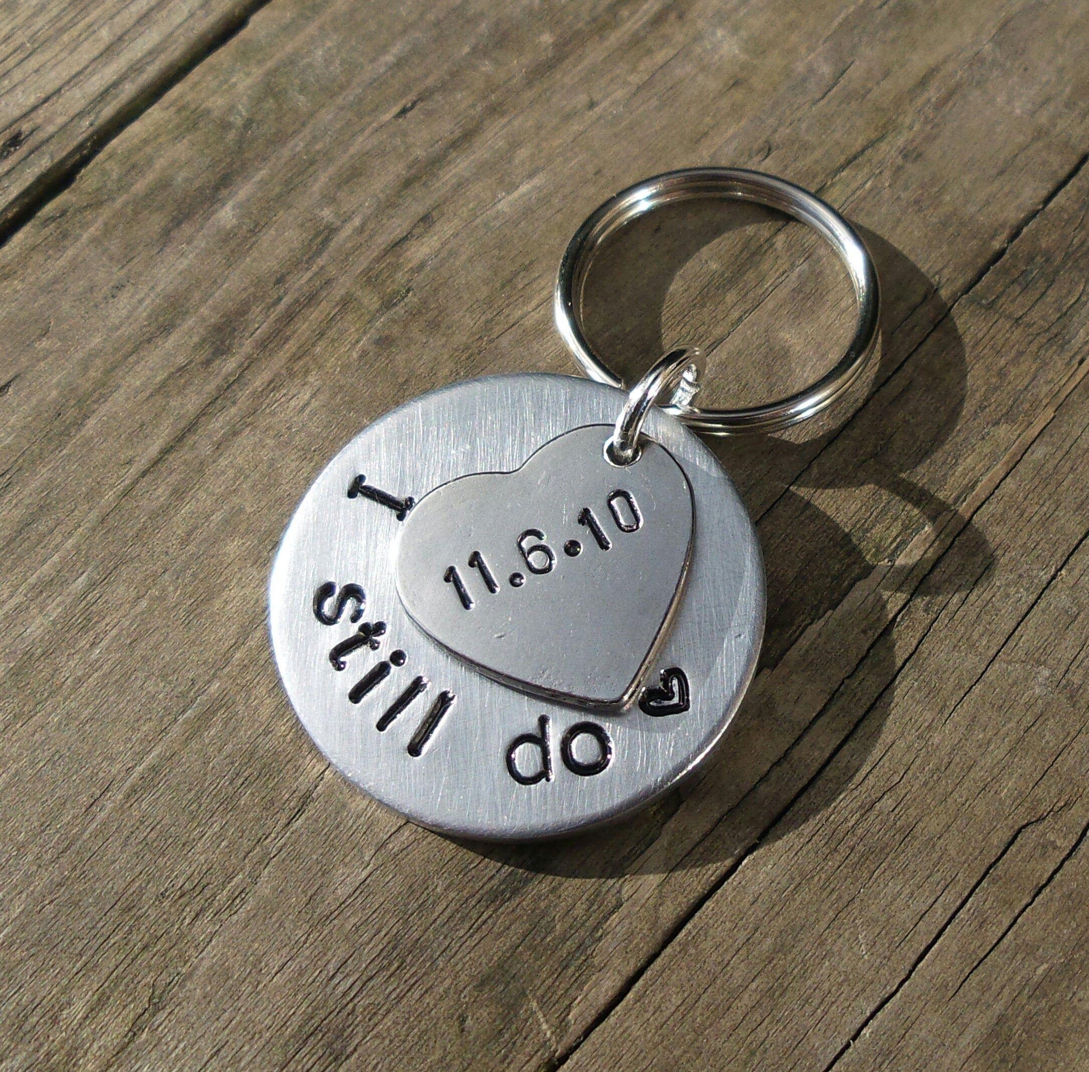 I STILL DO Keyring Husband Wife Gifts For Men Women 10th
