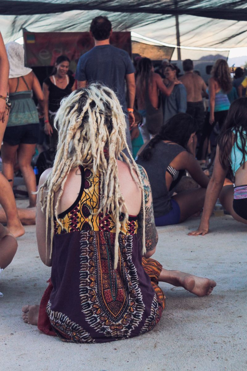 Bohemian girl with dreads I spotted at yoga