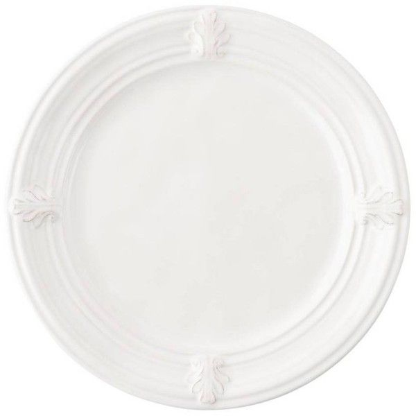 Juliska Acanthus Whitewash Dessert/salad Plate By (2.340 RUB) ❤ Liked On  Polyvore