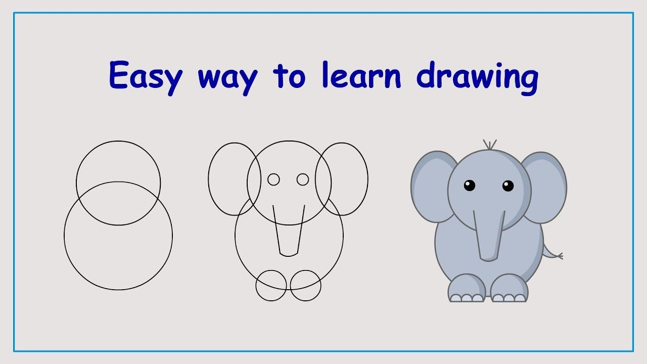 Learn how to draw elephant in a simple way