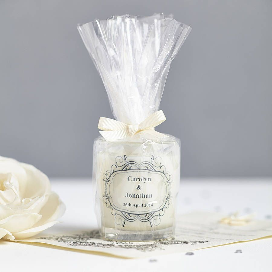 Wedding Favour Personalised Scented Candles | Wedding favour candles ...