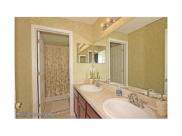 Man Cave Vanity : Double vanity bathroom beside chris' man cave. bungalow mary