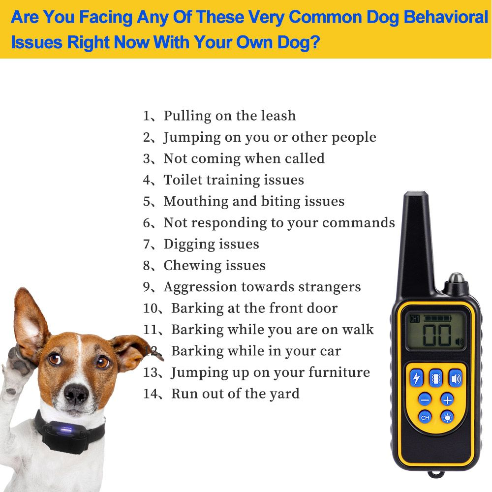 Dog Training Collar Upgraded 100 Waterproof Rechargeable 875