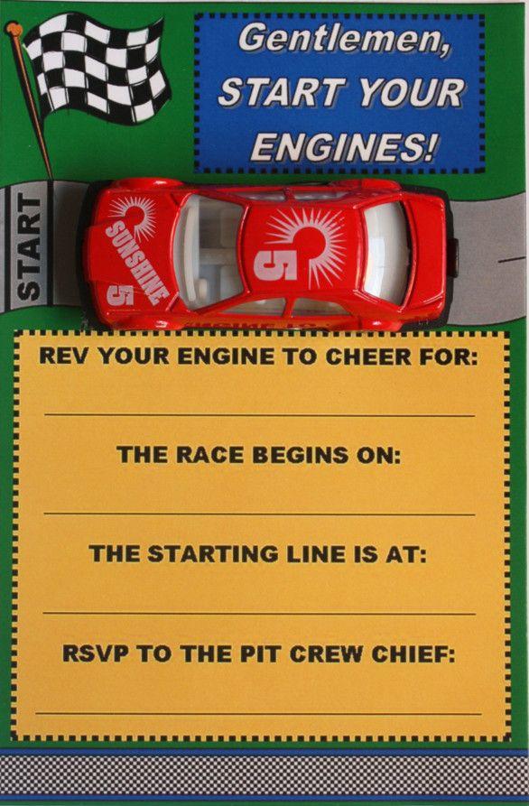 free printable race car birthday party invitations … | KIDS BIRTHDAY ...