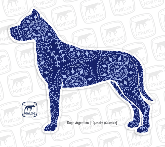 Dogo Argentino Decal Dogo Decal Sticker Fowl Dog Travel