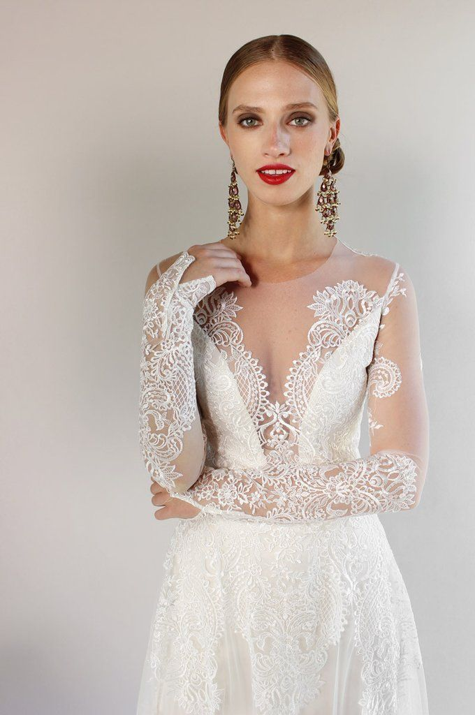 Pasadena Lace Bridal Gown from Romantique by Claire Pettibone https ...