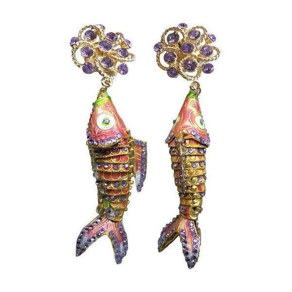 Cynthia Rowley Swimming Fish Earrings 175 Liked On Polyvore Featuring Jewelry