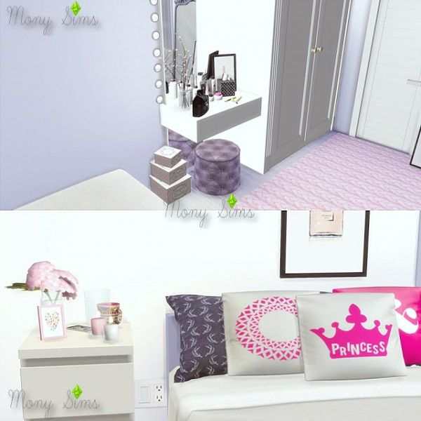mony sims a little pink please bedroom u2022 sims 4 downloads sims 4 rh pinterest com