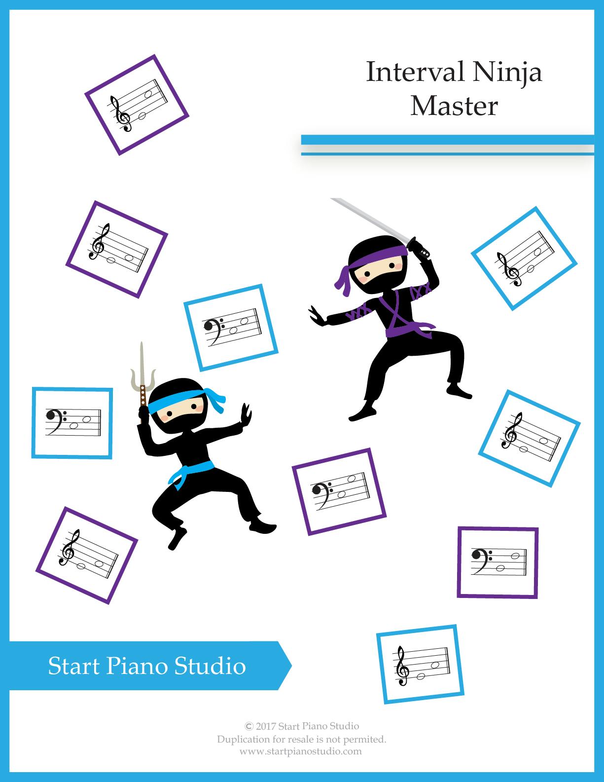 Interval Ninja Master Piano Heroes Ninja Master Learn Piano Piano Teaching Resources [ 1585 x 1225 Pixel ]