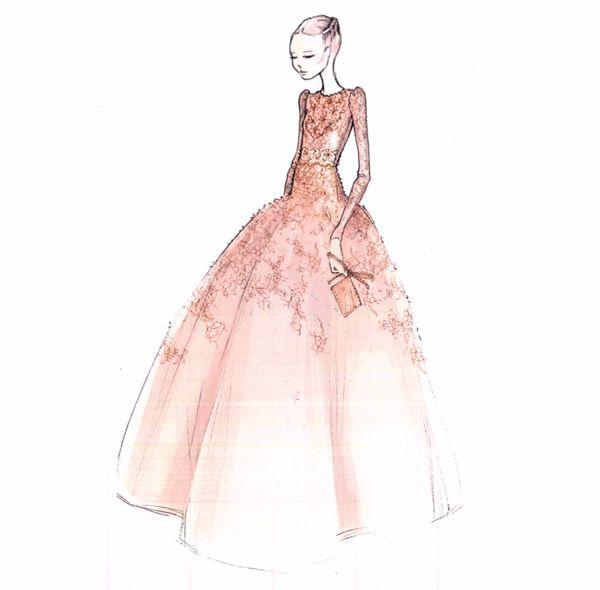 via By Sasha - Valentino sketch for the Diamond Jubilee ballgown ...
