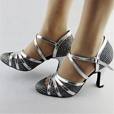 naisten nahka ylempi buckie samba tanssi kengät korkokengät – EUR € 29.99