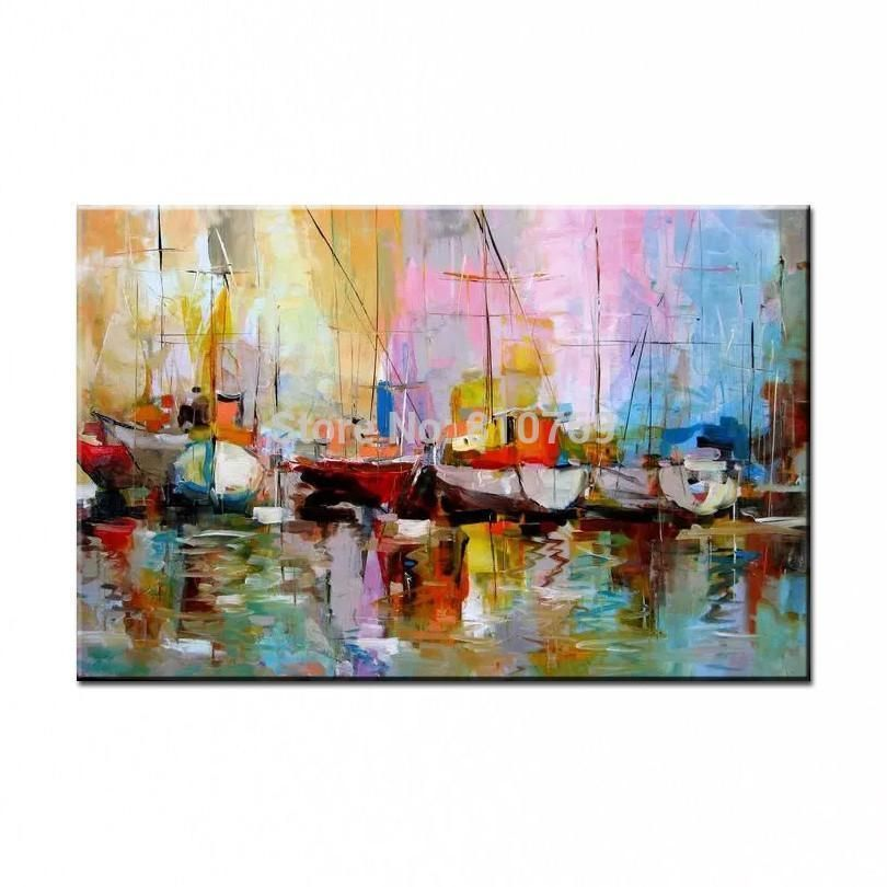 Colorful home decor oil painted living room wall art style - Oil painting ideas for living room ...