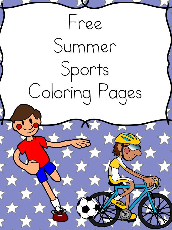 Summer Sports Coloring Pages | Pinterest | Free fun, Kindergarten ...