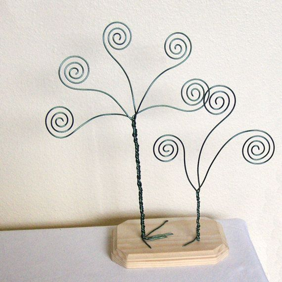 Double Green Wire Card Holder Trees - Business Card Holders - Photo ...