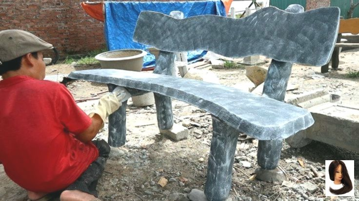 Techniques make Concrete fake stone chair Techniques make Concrete fake stone chair | Project Cement craft | Ideas Stone c...        Techniques make Concrete fake stone chair | Project Cement craft | Ideas Stone chair for garden - YouTube