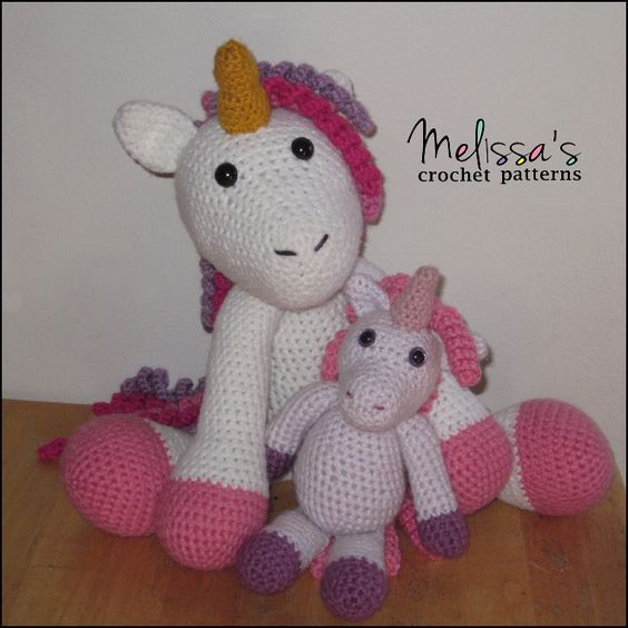 The Adorable Unicorn and Annabelle the Unicorn (free crochet pattern ...