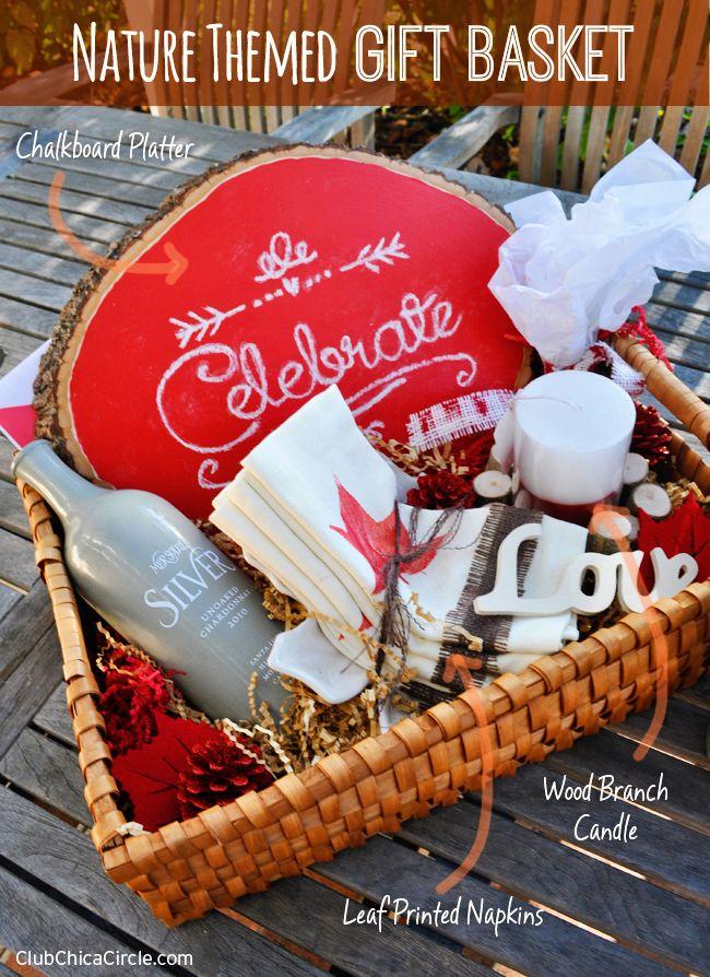 Nature Themed Homemade Holiday DIY Gift Basket DIY Gift Ideas