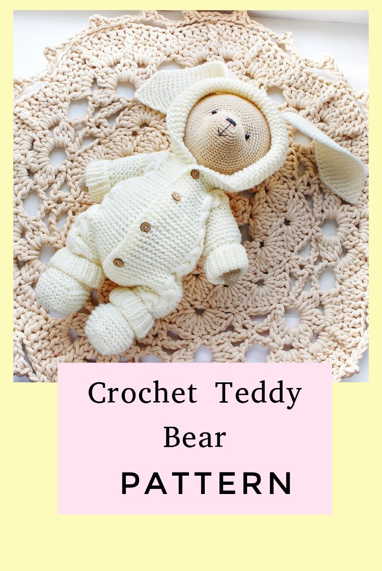 PATTERN Crochet Teddy bear. PATTERN Amigurumi Teddy bear. PATTERN Teddy Bears Outfits