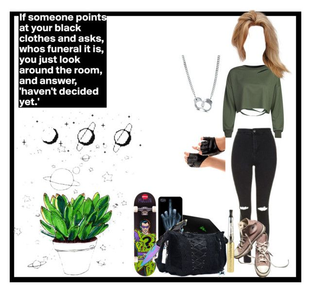 """""""Published set"""" by thin-mint ❤ liked on Polyvore featuring WithChic, Topshop, Converse, BERRICLE, Razer, Villain, Handle and CO"""
