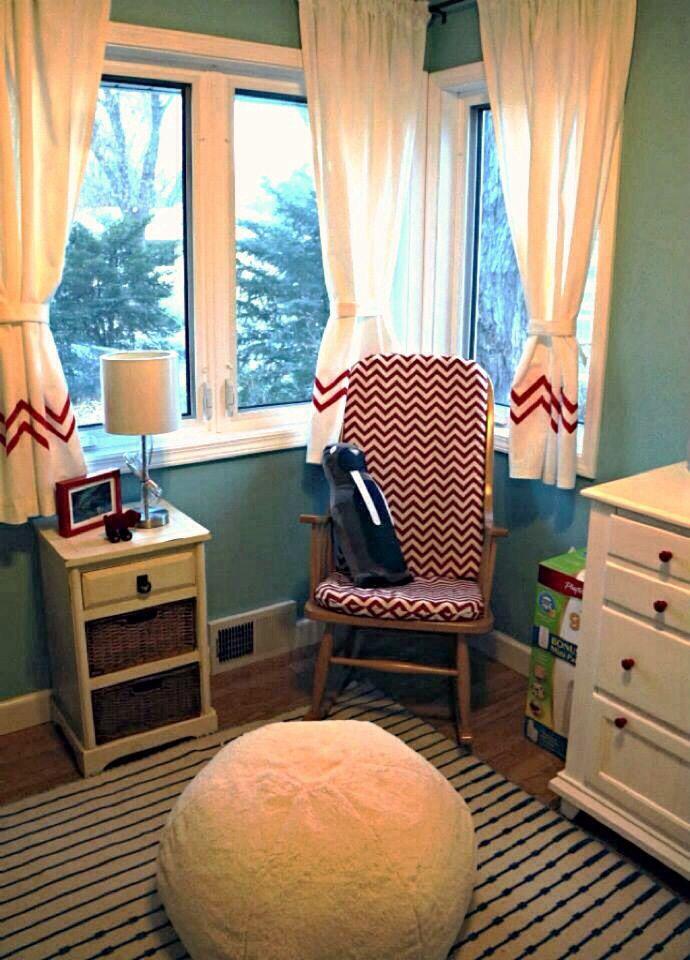 Chevron diy ikea curtains, diy chevron rocking chair ...
