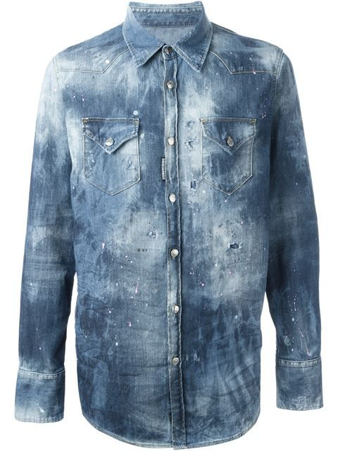 bb124a77da DSQUARED2 Rip Detail Denim Shirt.  dsquared2  cloth  shirt ...