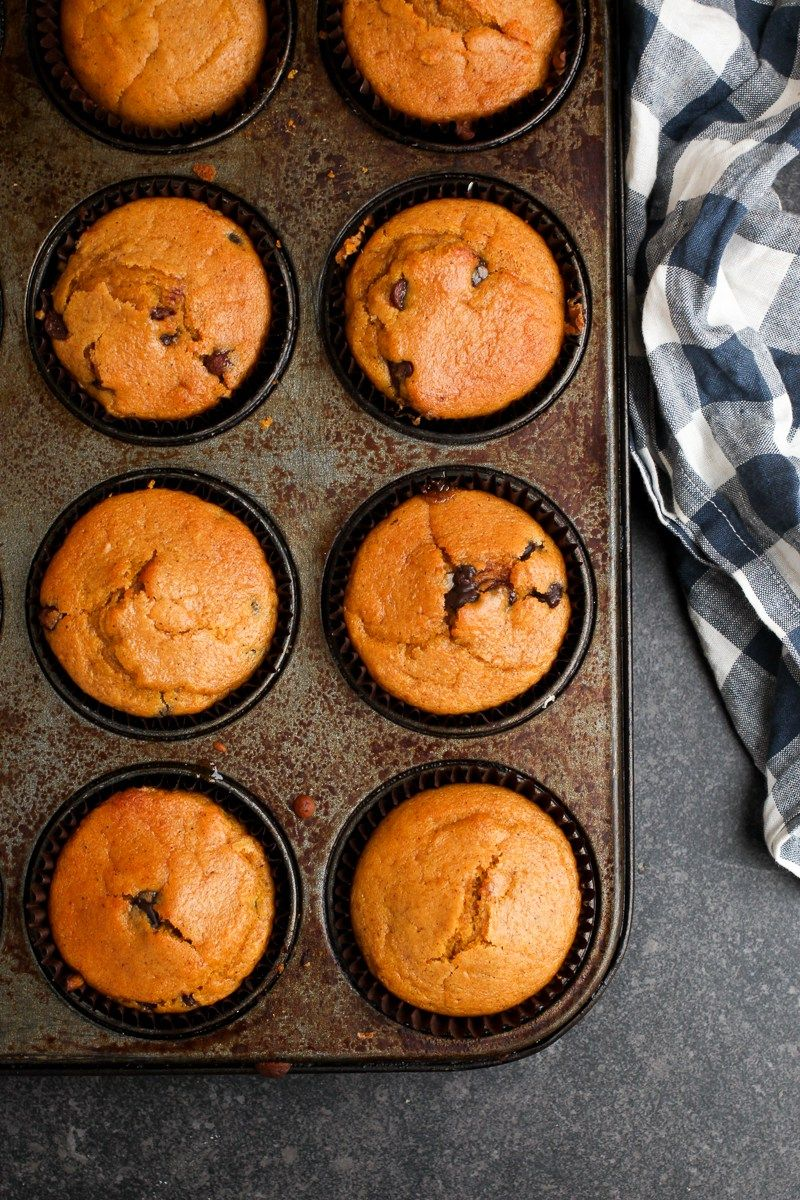 Pumpkin Chocolate Chip Muffins Vegan