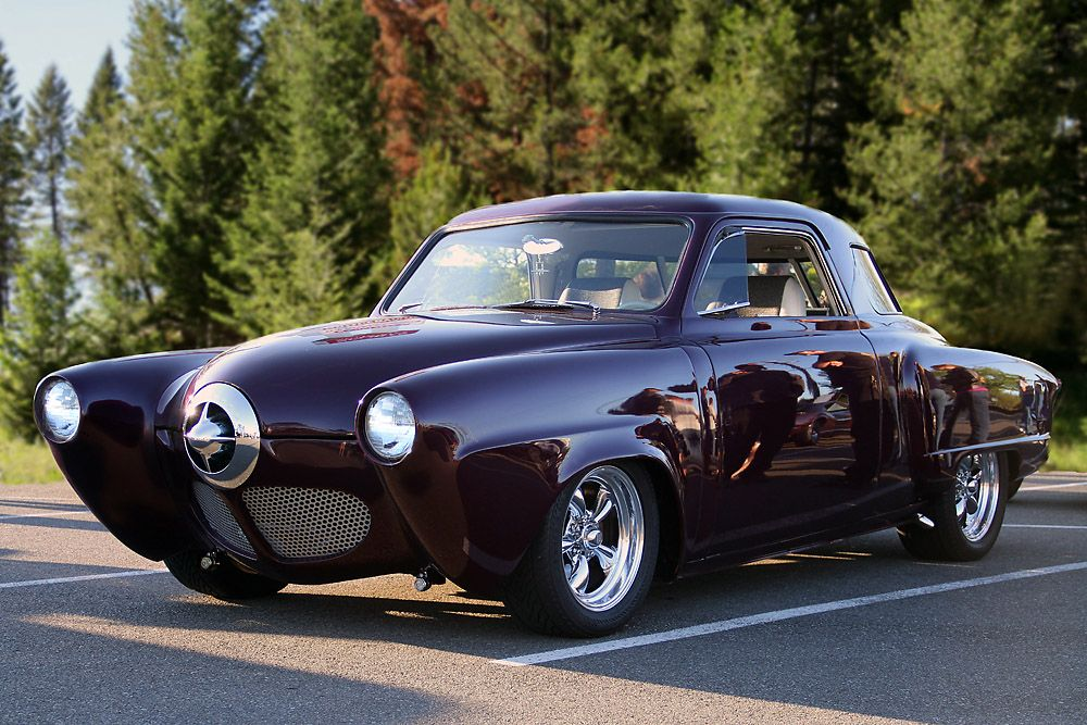 1950 Studebaker makes for a unique street rod. Love when they are ...