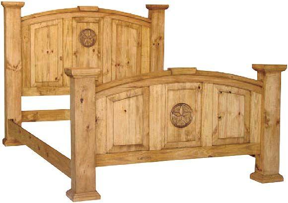 Lone Star Bed Frame Rustic Bedroom Furniture Pine Bedroom Furniture Rustic Pine Furniture