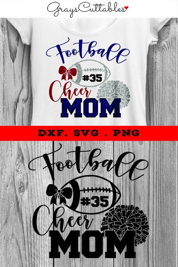 Football Mom Svg, Cheer Mom Svg, Football Season Svg