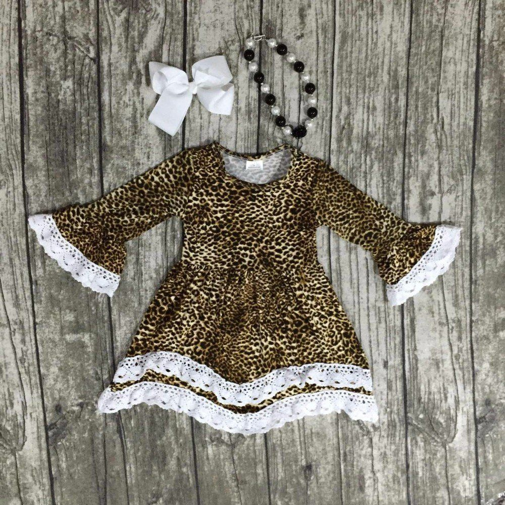 51f3b738f1 Leopard Print Ruffle Dress SET